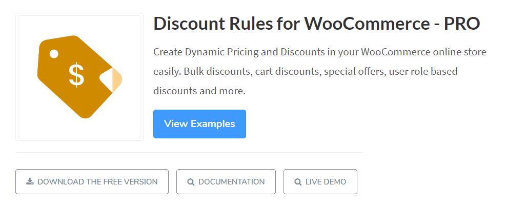 plugin Discount rules for woocommerce