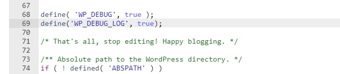Cómo habilitar WP_DEBUG_LOG