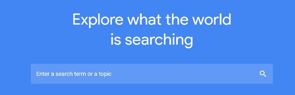 página de búsqueda de tendencias de google para tienda dropshipping