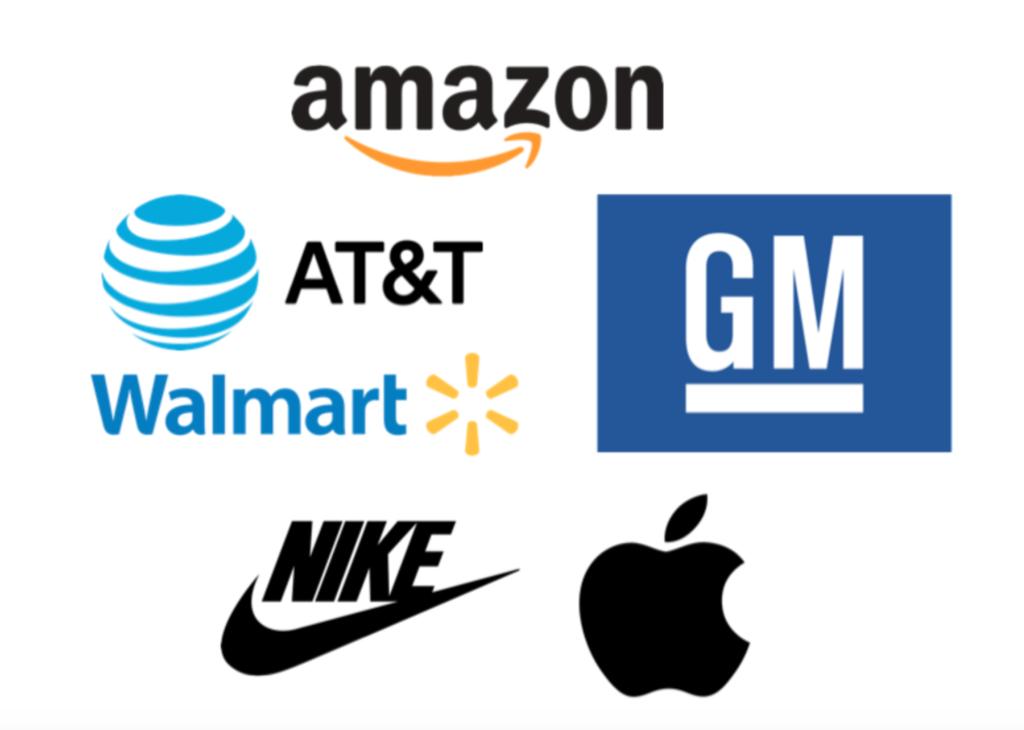 Ejemplo de logotipos más famosos y reconocibles del mundo.