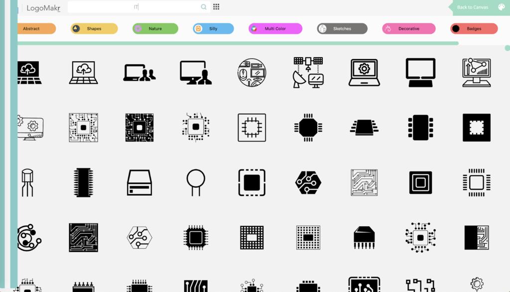 Diseños y plantillas de LogoMakr