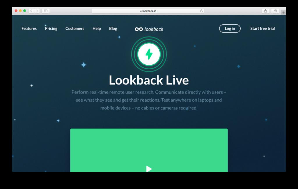 El loopback es ideal para pruebas de usabilidad remotas moderadas