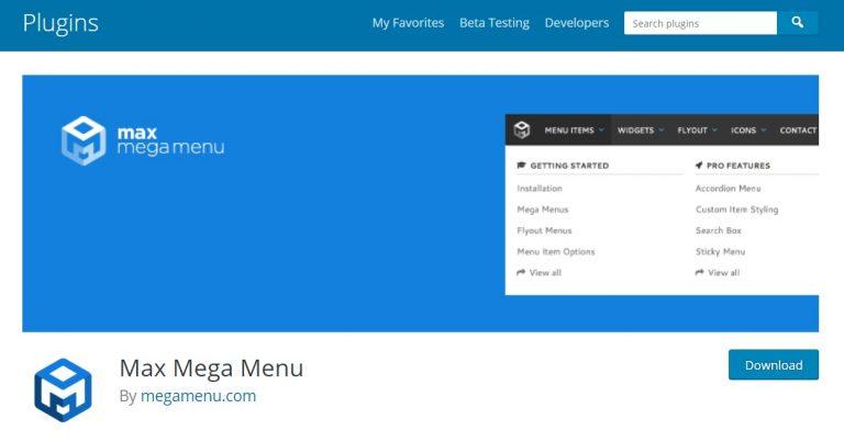 max mega menu puede reemplazar automáticamente el menú predeterminado de su tema de wordpress