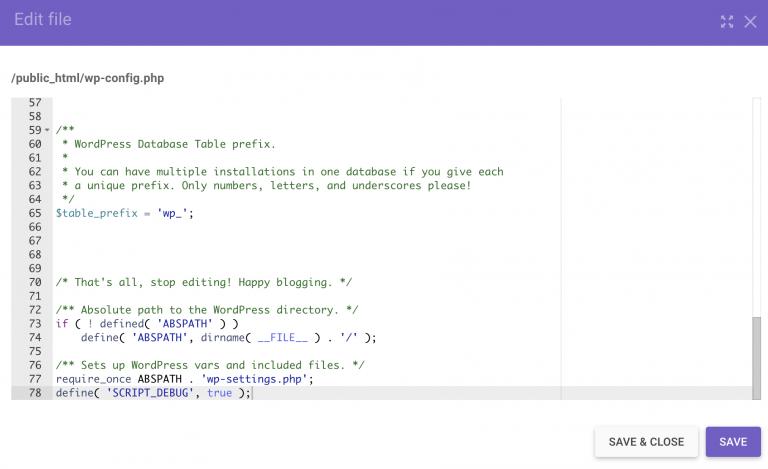 Habilite SCRIPT_DEBUG en wp-config.php