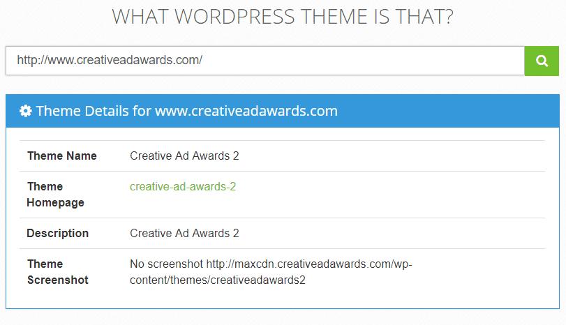 ¿Qué tema de wordpress es esa herramienta de detector de temas de wordpress?