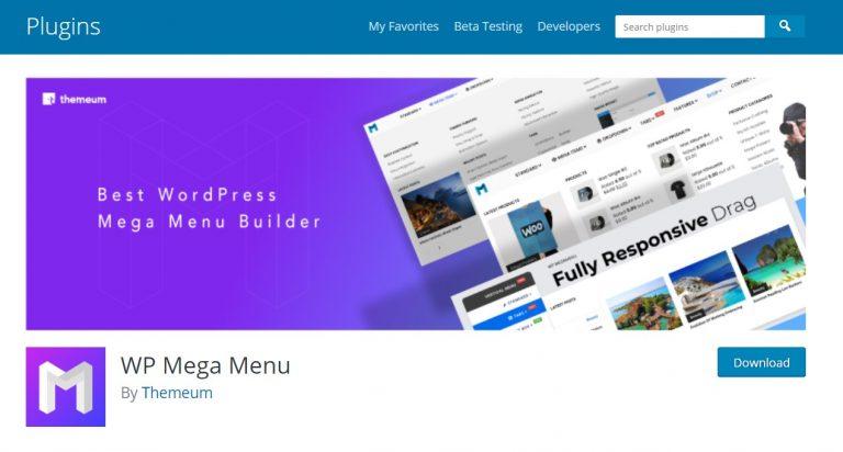 Este complemento ofrece un mega menú completamente funcional para usuarios de WordPress
