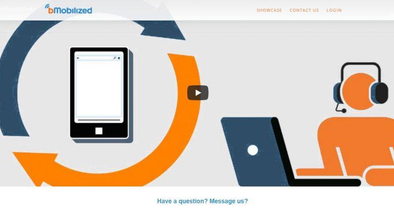 BMobilized es un poderoso convertidor en línea que convertirá tu sitio en uno móvil.