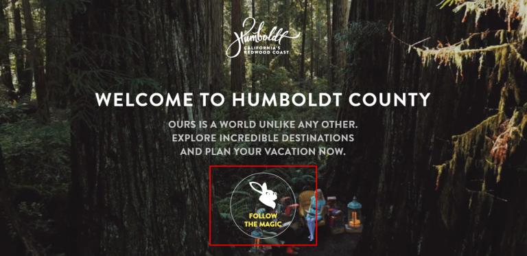 Llamado a la acción del sitio web de Humboldt Counrt