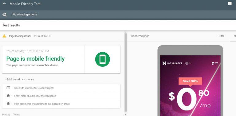 Utiliza la herramienta de prueba para dispositivos móviles para verificar si su sitio ya ha sido optimizado para el dispositivo móvil