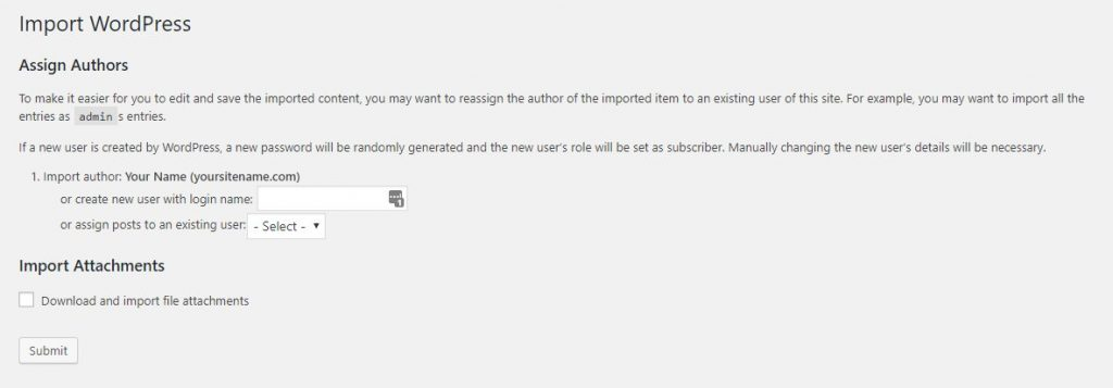 finalizar importacion wordpress