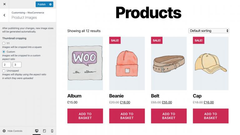 Edición de imágenes de productos para Boutique en línea