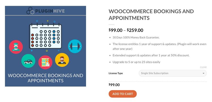 woocommerce reservas citas plugin de reserva de wordpress