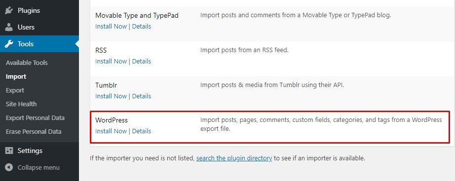 Importar archivos de WordPress.com a WordPress.org