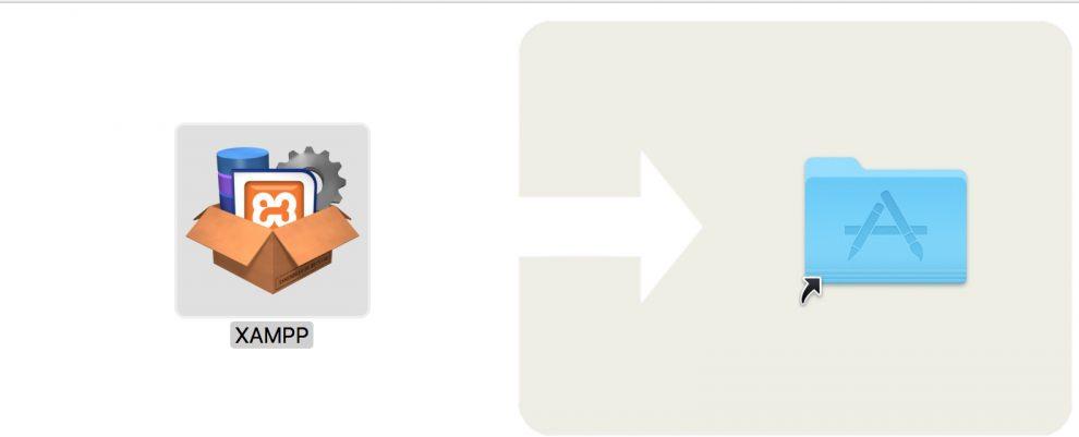 XAMPP arrastrar a la carpeta de aplicaciones