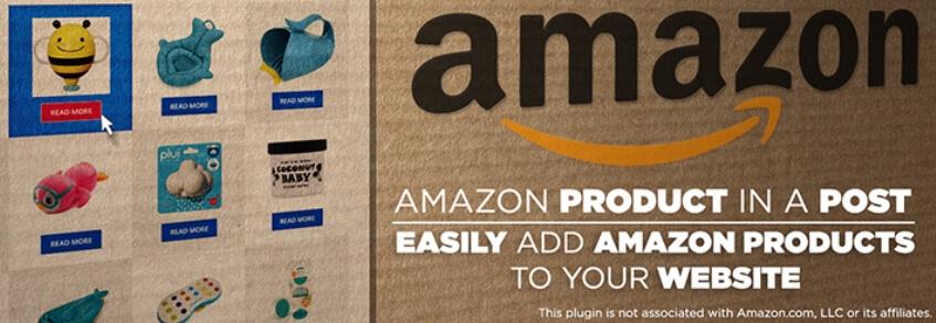 El producto de Amazon en un complemento de publicación.