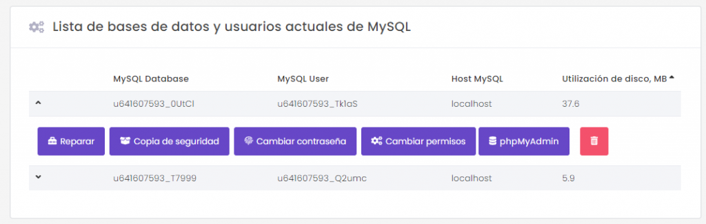 Wordpress cómo eliminar la base de datos mysql