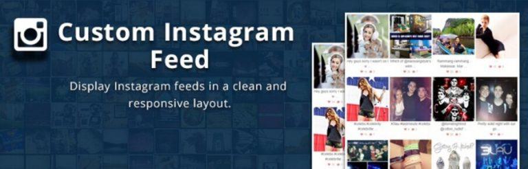 El complemento Custom Feed de Instagram.