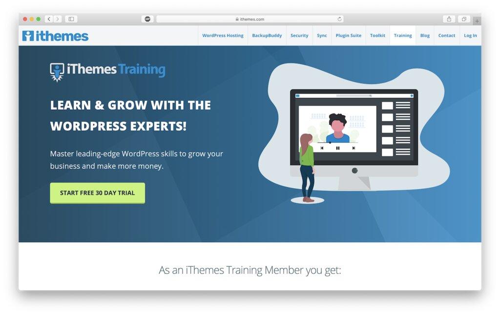 en el sitio web de ithemes para aprender wordpress