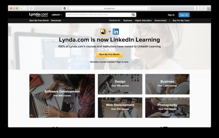 Lynda come sitio para ayudar a los usuarios a usar WordPress