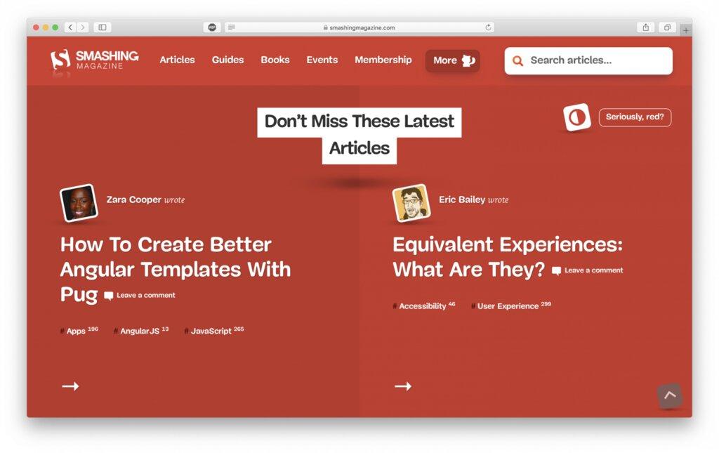 sitio web de la revista sensacional para el tutorial de WordPress