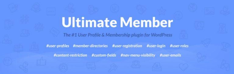El complemento de Ultimate Member.