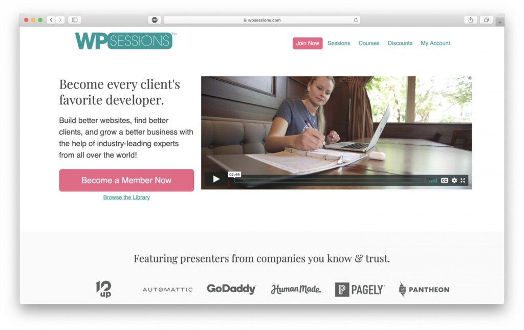 Sitio web de WPsessions para ayudar a obtener ayuda de nuevos usuarios de WordPress