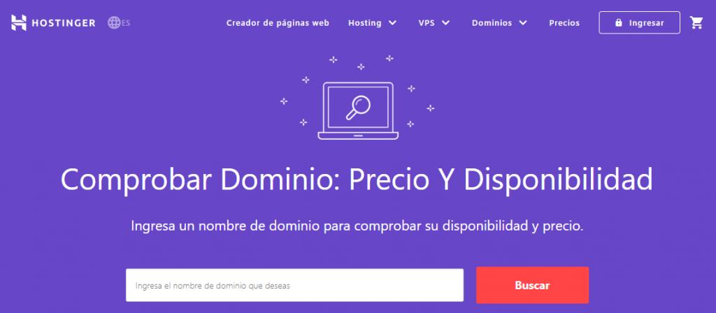 Hostinger Domain Checker como uno de los mejores generadores de nombres de dominio.