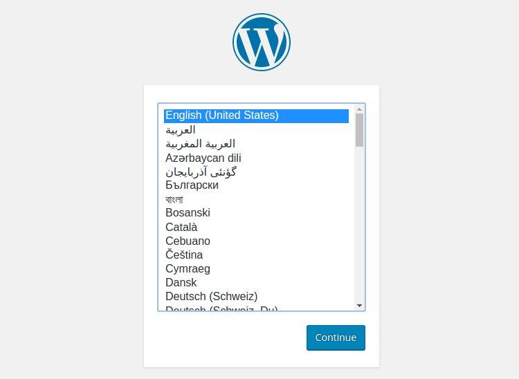 Carga exitosa de WordPress ahora en línea
