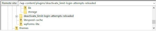 Cómo deshabilitar los complementos de un servidor FTP