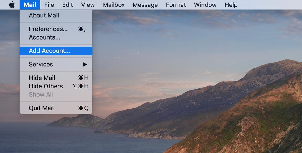 Abrir la aplicación Mac Mail.