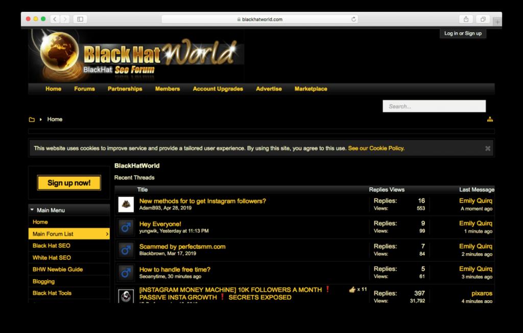 Black Hat World SEO Forum