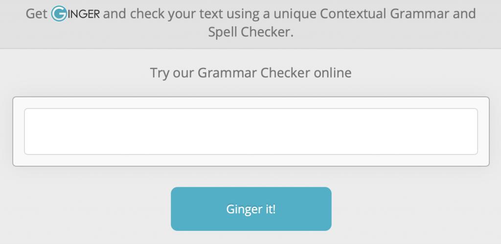 Corrector gramatical basado en web de Ginger