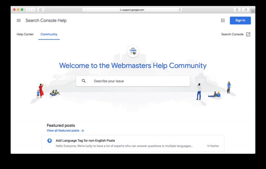 Comunidad de ayuda para webmasters de Google
