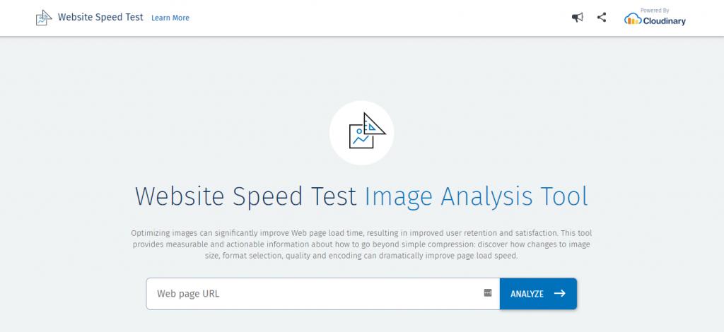 herramienta de prueba de velocidad de análisis de imágenes