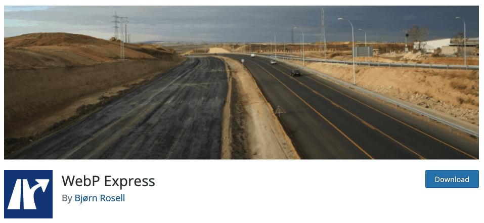 Complemento de WebP Express para habilitar WebP en WordPress