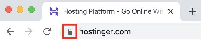 Los sitios web que tienen certificado SSL y cifrados HTTPS suelen tener un icono de candado