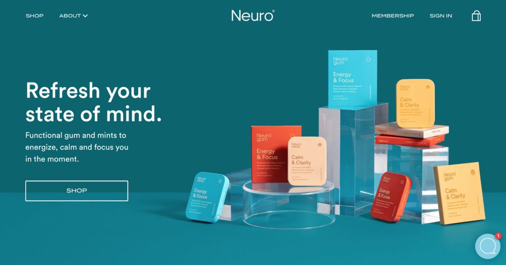 Ejemplos de sitios web de comercio electrónico de Neuro
