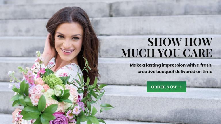 Muestre cuánto le importa un ejemplo de sitio web de comercio electrónico de floristería