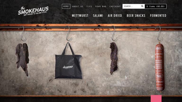 Ejemplos de sitios web de comercio electrónico de Smokehaus