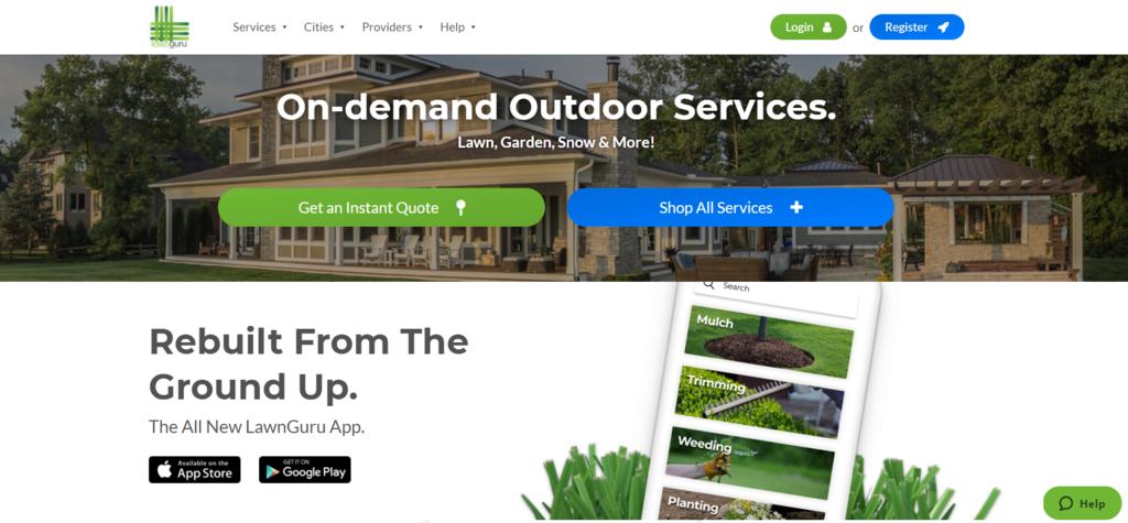 Negocio de eCommerce B2C basado en servicios Lawn Guru