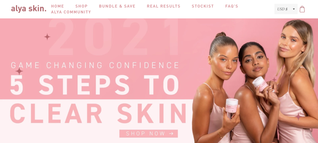 Caso de estudio de negocio B2C de eCommerce Alya Skin con micro influencers