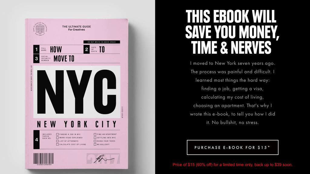 Landing page de Let's go to NYC en ideas de negocios pequeños