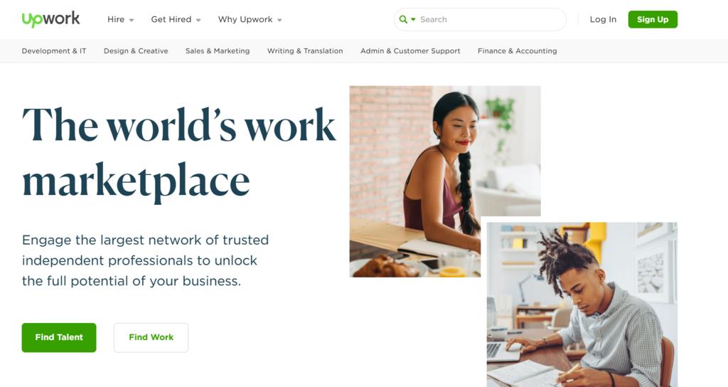 Negocio de eCommerce freelance C2B Upwork