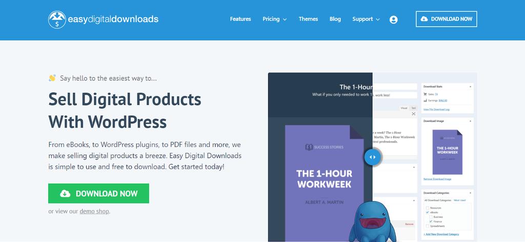 Plugin de eCommerce Easy Digital Downloads para productos digitales