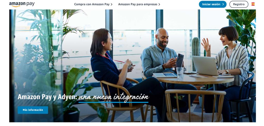 Página de inicio de la pasarela de pago Amazon Pay