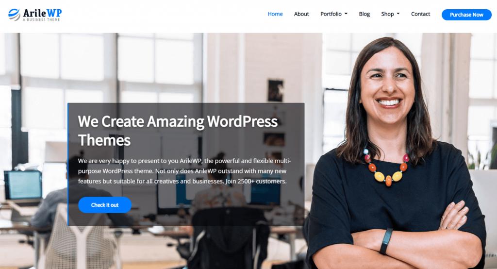 Temas de WordPress para negocios ArileWP