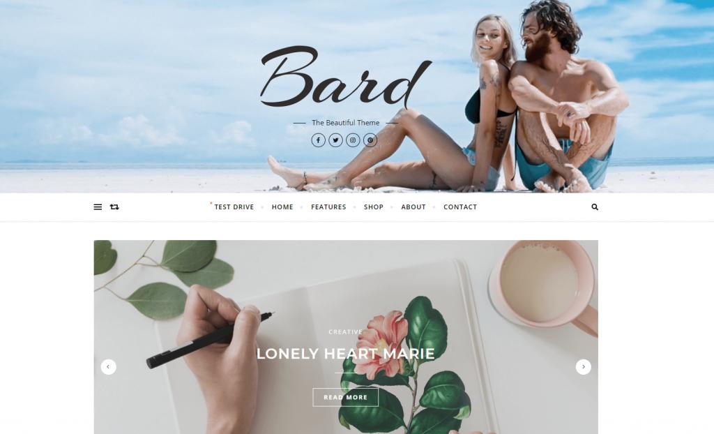 Ejemplo de plantilla para WordPress Bard