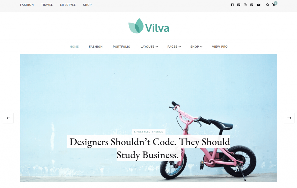 Plantilla de WordPress Vilva