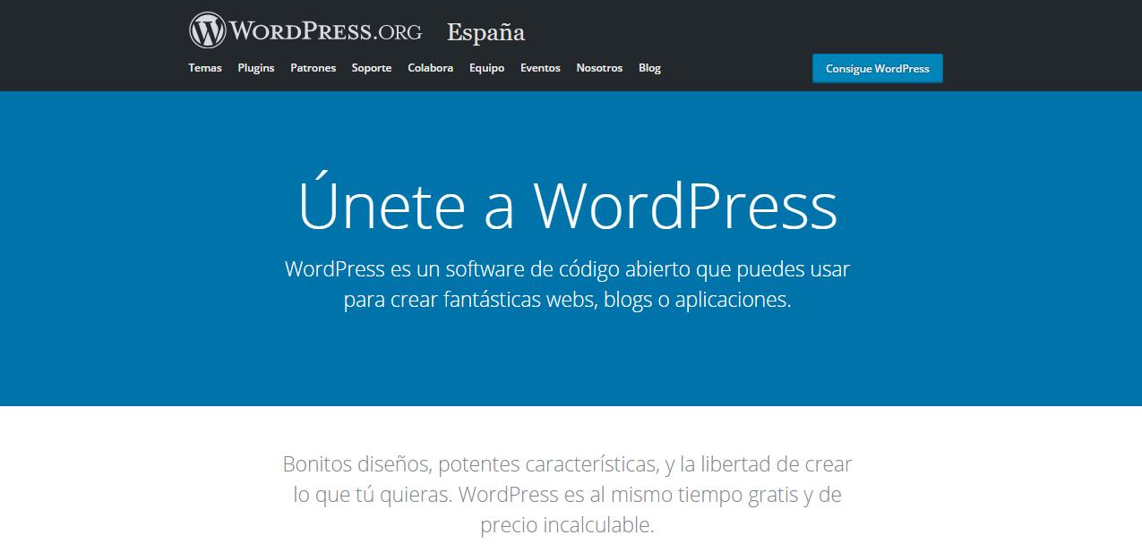 Página de inicio de WordPress.org