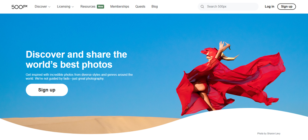Sitio para vender fotos 500px